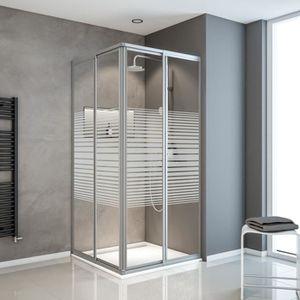 paroi de douche avec porte coulissante achat vente paroi de douche avec porte coulissante. Black Bedroom Furniture Sets. Home Design Ideas