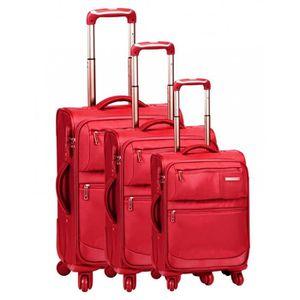 SET DE VALISES Set de 3 valises chariot 4 roues pro-confort rouge