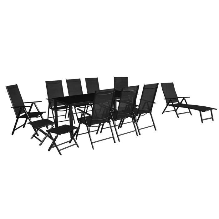 Ensemble meuble de jardin en aluminium 12 pieces achat for Vente meuble jardin