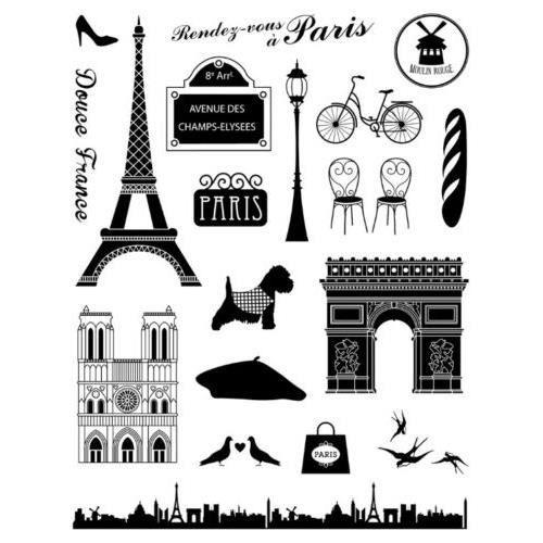Lot tampon frise paris france tour eiffel vintage chien - Boutique loisirs creatifs paris ...