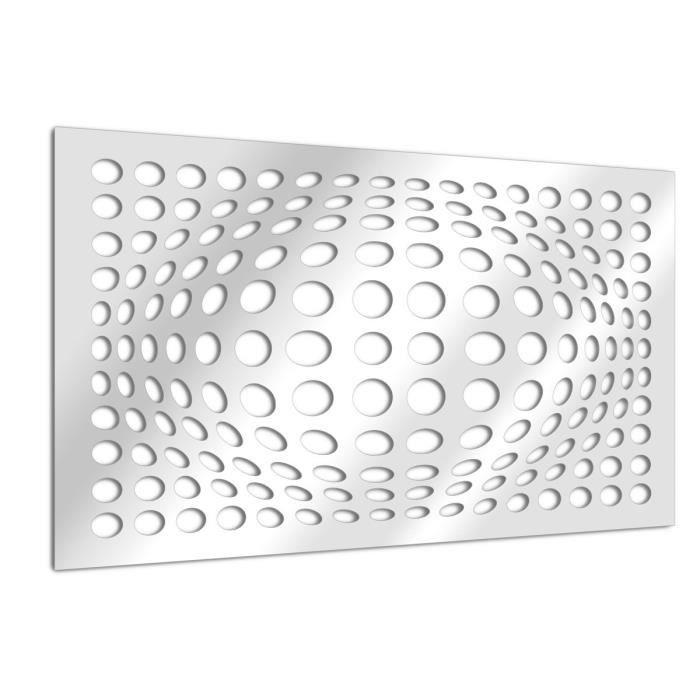 Miroir Design Illusion De Bulles 75 X 54 Achat Vente