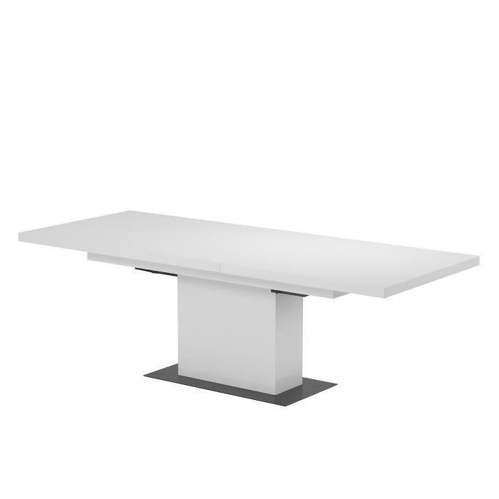 Table de s jour brooklyn extensible en bois laqu achat - Table de sejour extensible ...