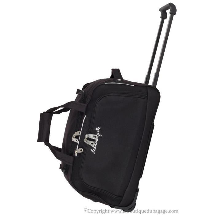 lulu castagnette sac de voyage roulettes 50 cm bzr noir achat vente sac de voyage lulu. Black Bedroom Furniture Sets. Home Design Ideas