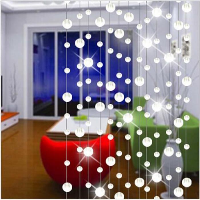 1pc 1m cristal perle rideau pour salon partitio achat vente rideau de porte cdiscount. Black Bedroom Furniture Sets. Home Design Ideas