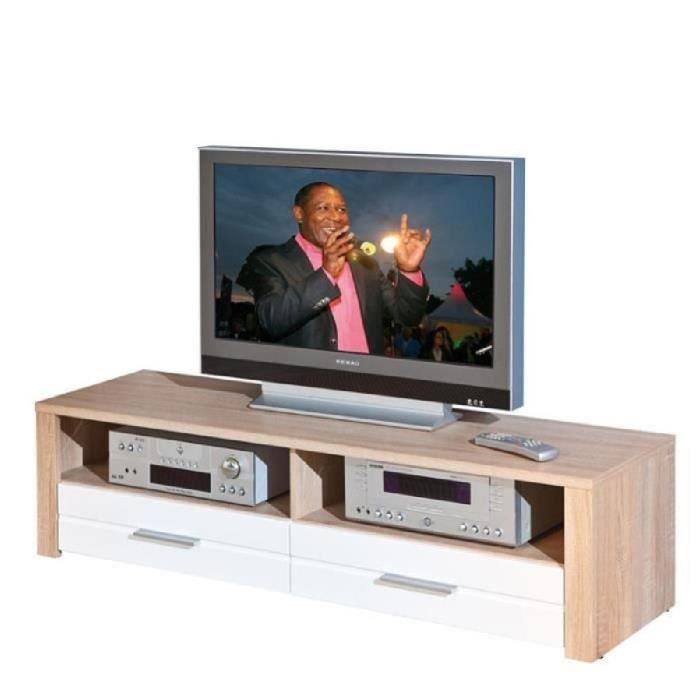 Meuble tv swift blanc paris prix achat vente for Prix meuble tv