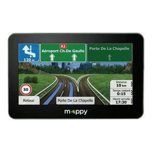 """MAPPY S549, GPS 5"""", 14 pays - Cartes & Trafic gratuits à vie - Bluetooth + housse"""