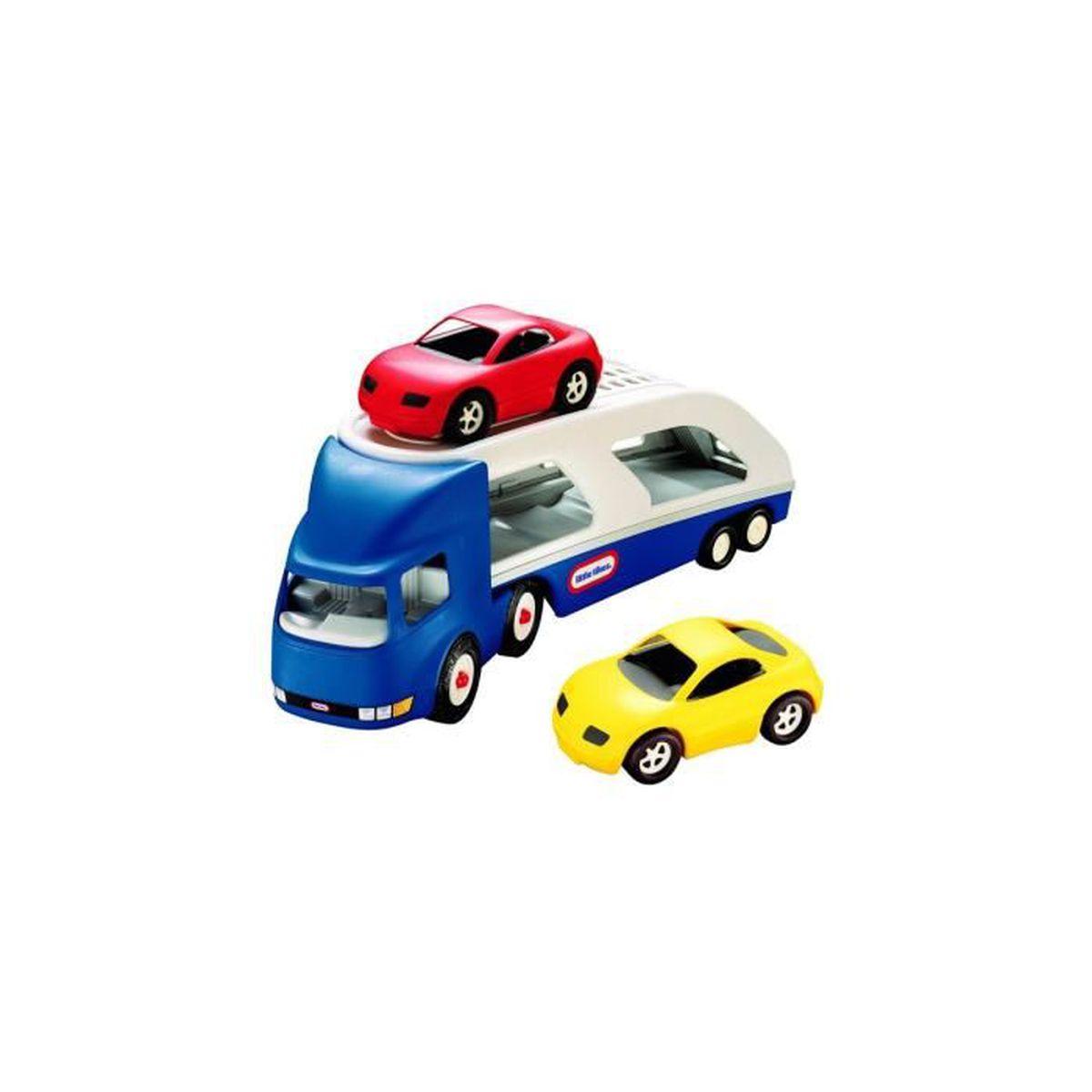grand camion transporteur auto avec 2 voitures little tikes achat vente v hicule circuit. Black Bedroom Furniture Sets. Home Design Ideas