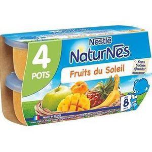 NESTLE BEBE Naturnes Fruits Du Soleil - 4x130g - D?s 8 mois