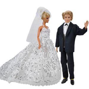 ACCESSOIRE POUPÉE E-TING® Wedding Fashion pailletée Long Tail Tenue