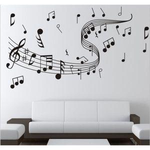 Stickers note de musique achat vente stickers note de for Decoration murale note de musique