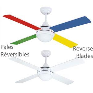 Plafonnier ventilateur avec telecommande achat vente plafonnier ventilateur avec - Ventilateur plafond enfant ...