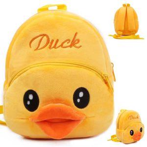 CARTABLE Canard Cartoon enfants jouets en peluche sac à dos