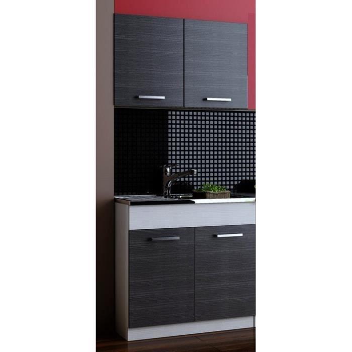 Cuisine compl te topaze 2 meubles avec evier et mitigeur for Meuble complet cuisine
