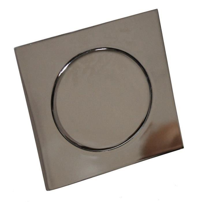 siphon de sol type tic tac inox salle de bain wc achat vente siphon de lavabo siphon de sol. Black Bedroom Furniture Sets. Home Design Ideas