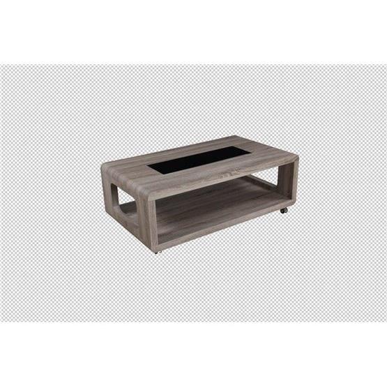 Table basse design orta bois fonc achat vente table - Table basse bois fonce ...