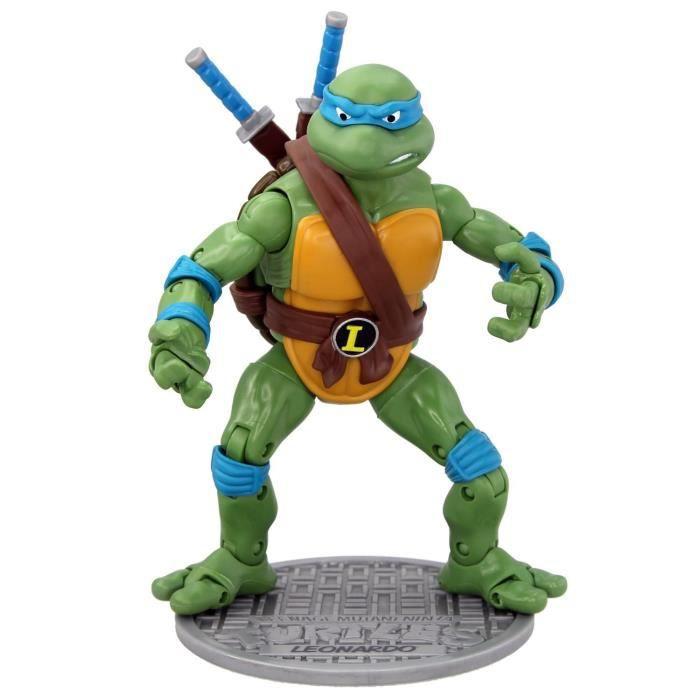 Tortues ninja leonardo figurine 16 cm achat vente figurine personnage cdiscount - Le nom des tortue ninja ...
