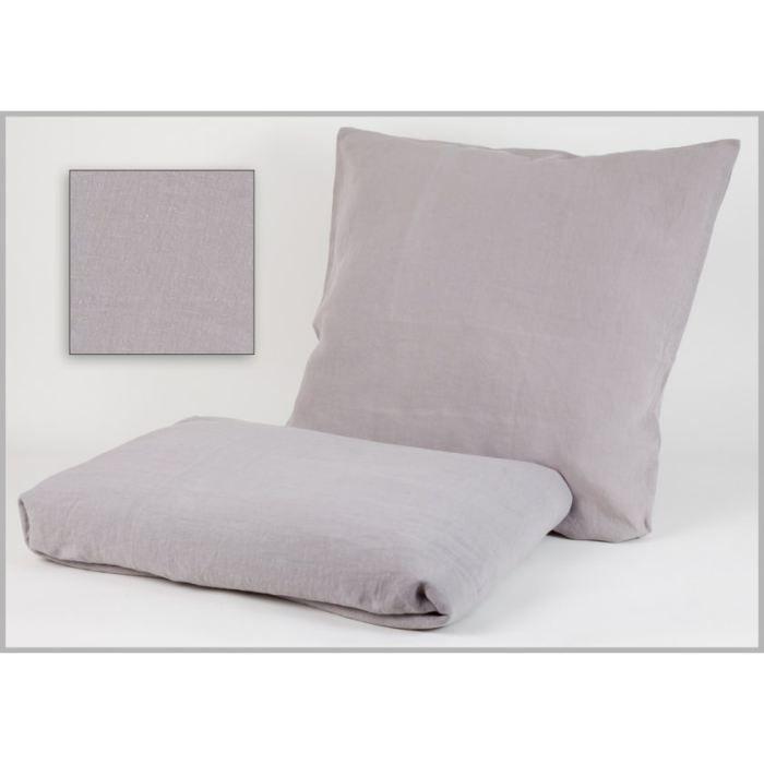 housse de couette lin lav gris souris 200x200c achat. Black Bedroom Furniture Sets. Home Design Ideas