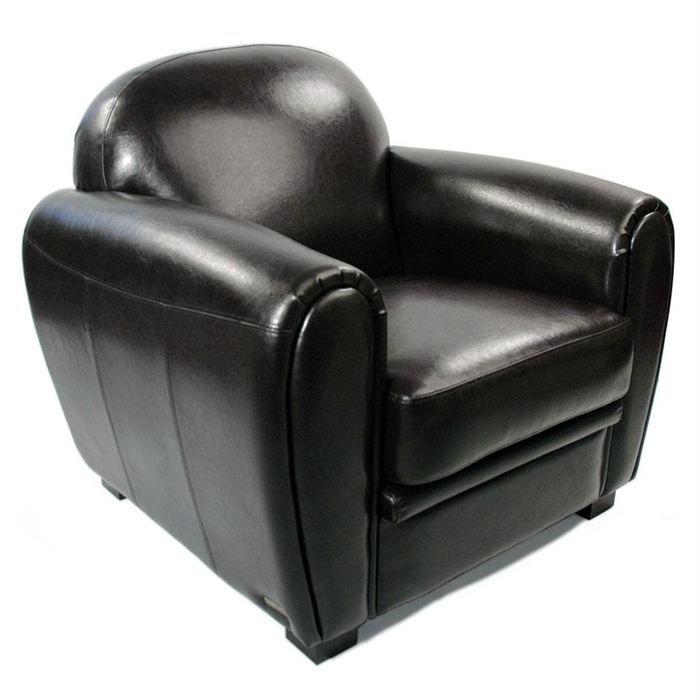 fauteuil club cuir noir maison design. Black Bedroom Furniture Sets. Home Design Ideas