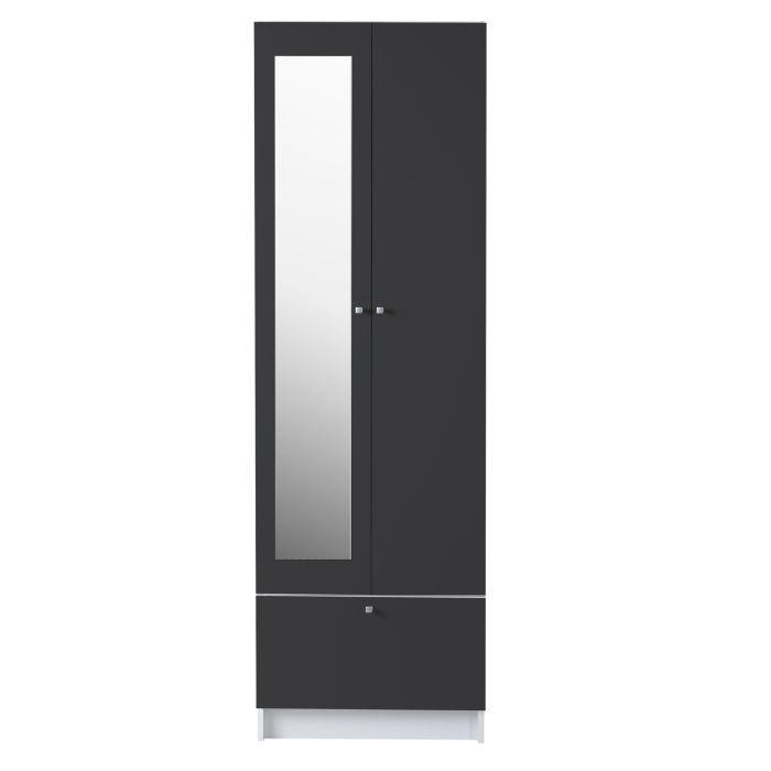 Meuble colonne slash anthracite l59 cm achat vente colonne salle de bain - Colonne salle de bain largeur 50 cm ...