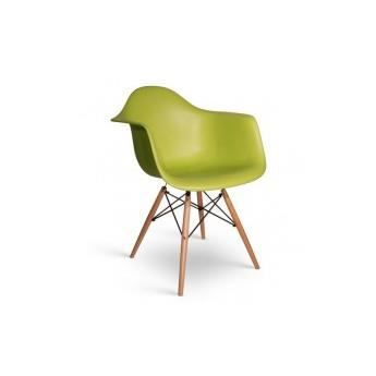 Chaise daw charles eames bakelite mat vert achat for Soldes chaises eames