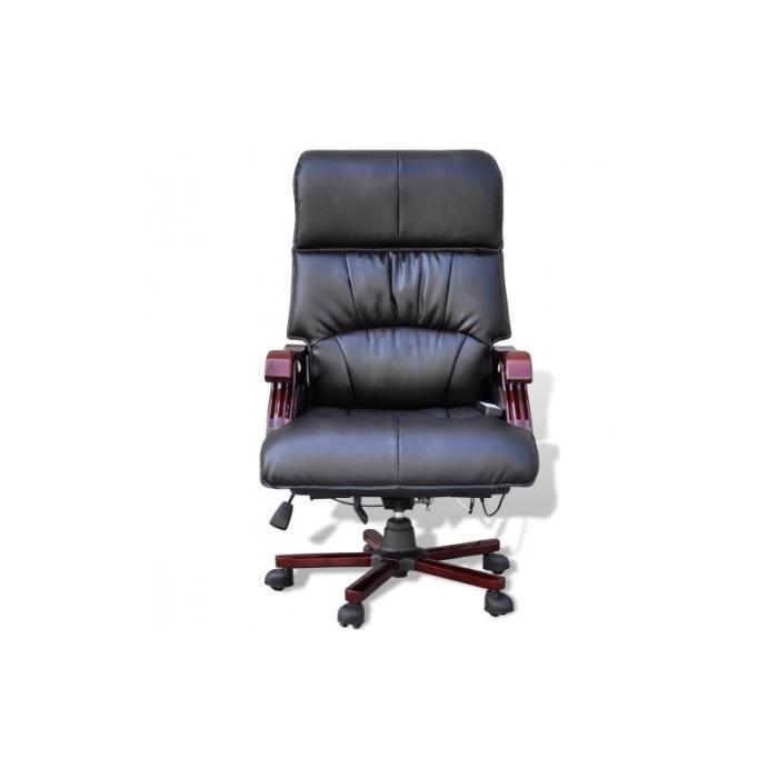 Fauteuil de bureau massant lectrique noir achat vente chaise de bureau n - Fauteuil bureau massant ...