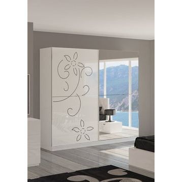 Armoire adulte design clea 2 portes coulissant achat for Armoire de chambre adulte