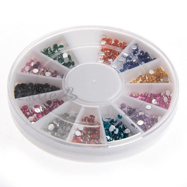 300x strass rond d co pour ongles faux naturels achat vente stickers strass 300x strass for Comdecoration pour ongles naturel