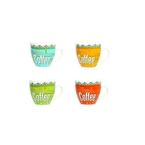 Novastyl 5186085 lot de 6 tasses caf du monde porcelaine for Maison du monde art de la table