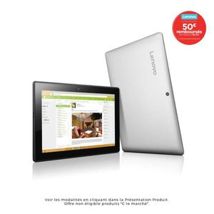 "Lenovo PC 2 en 1 - MIIX 310-10ICR - 10.1"" HD IPS - 4Go RAM - Windows 10 - Intel Atom - Stockage"