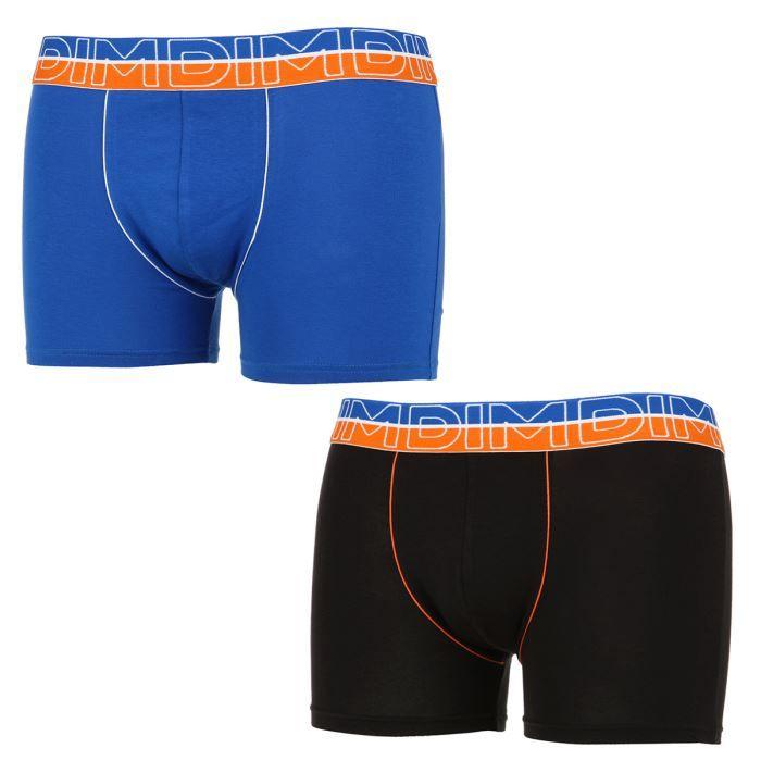 dim boxer x2 urban way homme bleu et noir achat vente. Black Bedroom Furniture Sets. Home Design Ideas