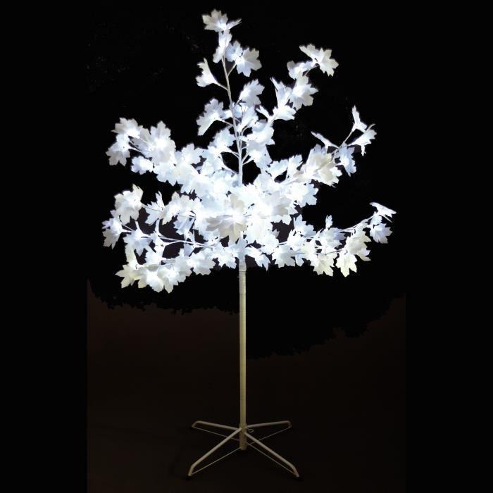 codico arbre de no l erable 120 led hauteur 150 cm blanc achat vente sapin arbre de no l. Black Bedroom Furniture Sets. Home Design Ideas