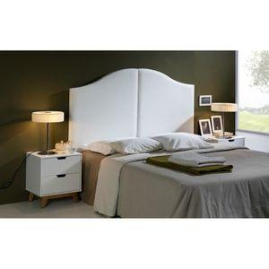 T te de lit blanc achat vente t te de lit blanc pas cher cdiscount - Tete de lit blanc 160 ...