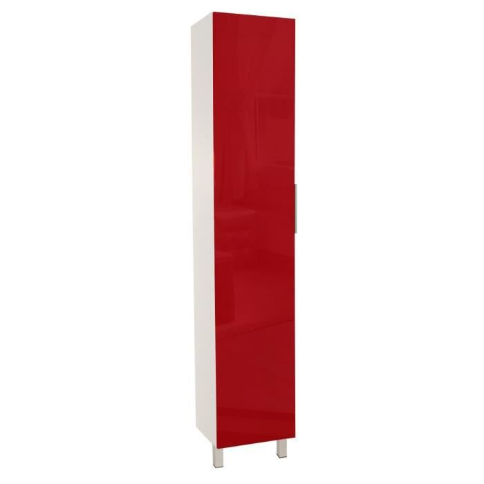 Meuble cuisine colonne rouge achat vente meuble for Meuble cuisine rouge pas cher