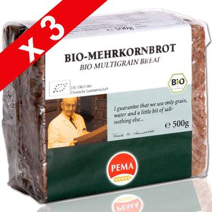 BISCOTTE - ASSIMILÉ ERIC BUR Pain Weizenkeimbrot Germe Blé 500g (x3)