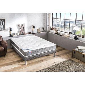 sommier avec pied achat vente sommier avec pied pas cher cdiscount. Black Bedroom Furniture Sets. Home Design Ideas