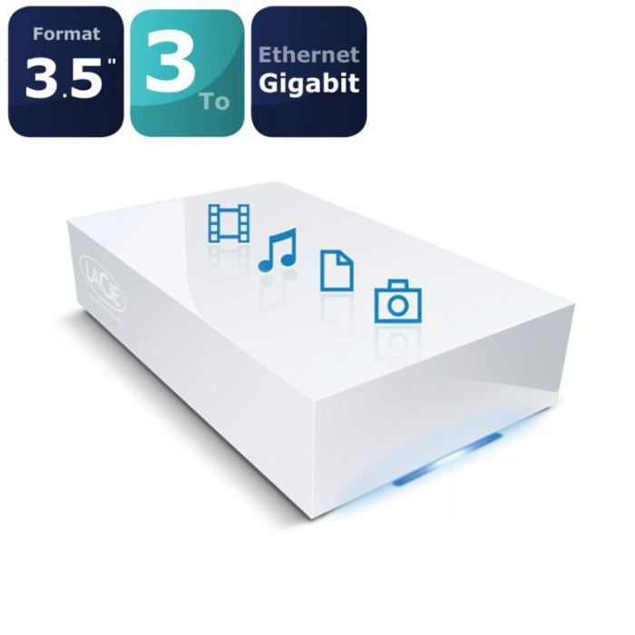 lacie disque r seau cloudbox 3to prix pas cher cdiscount. Black Bedroom Furniture Sets. Home Design Ideas