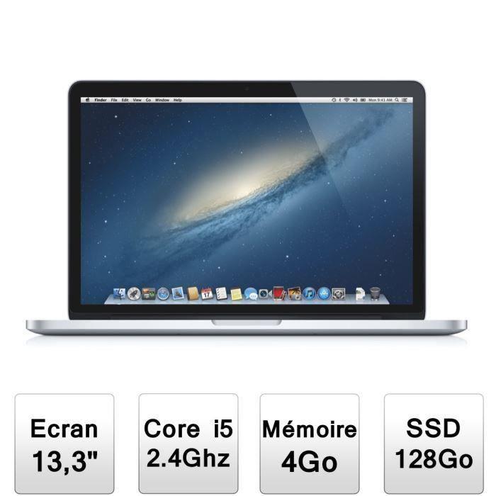 apple macbook pro 13 avec cran retina me864f a prix pas cher cdiscount. Black Bedroom Furniture Sets. Home Design Ideas
