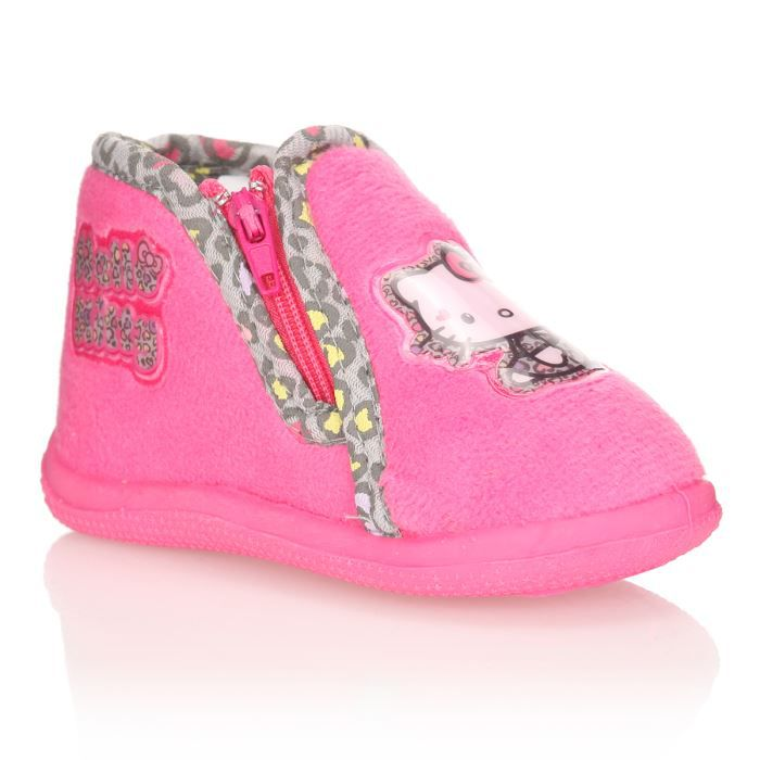 Hello kitty chausson oupette b b fille rose achat - Hello kitty bebe ...