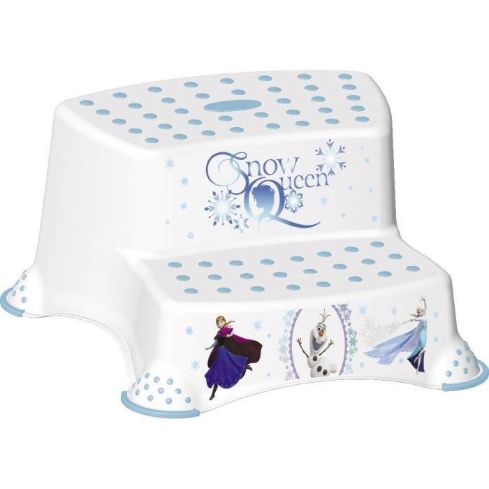 la reine des neiges double marche pieds disney blanc et. Black Bedroom Furniture Sets. Home Design Ideas