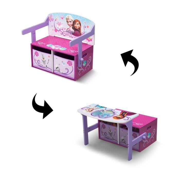 la reine des neiges bureau transformable enfant bois avec rangement achat vente bureau. Black Bedroom Furniture Sets. Home Design Ideas