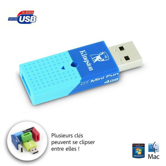 Clé USB compacte 2.0 - Capacité 4 Go - Compatible Windows, Mac OS X ...
