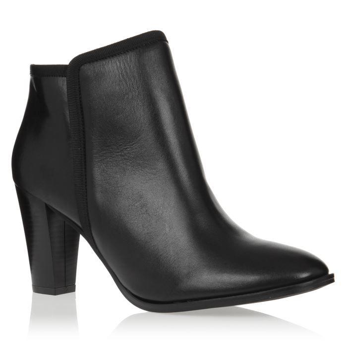 bakajoo bottines talon cuir chaussures femme femme noir achat vente bakajoo bottines cuir. Black Bedroom Furniture Sets. Home Design Ideas
