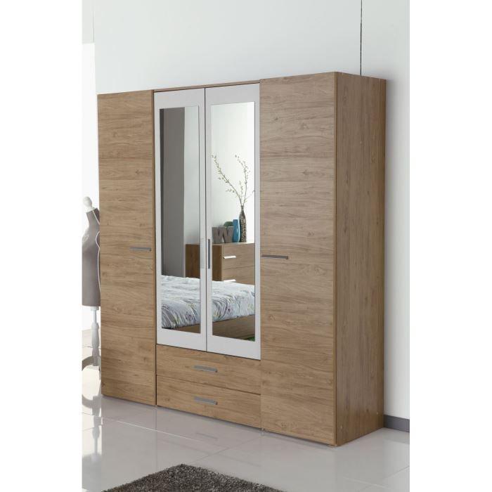 Armoires achat vente armoires pas cher cdiscount for Decoration porte armoire