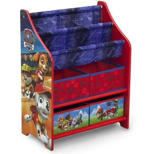 Meuble de rangement jouets livres pat patrouille achat - Meuble rangement livre ...