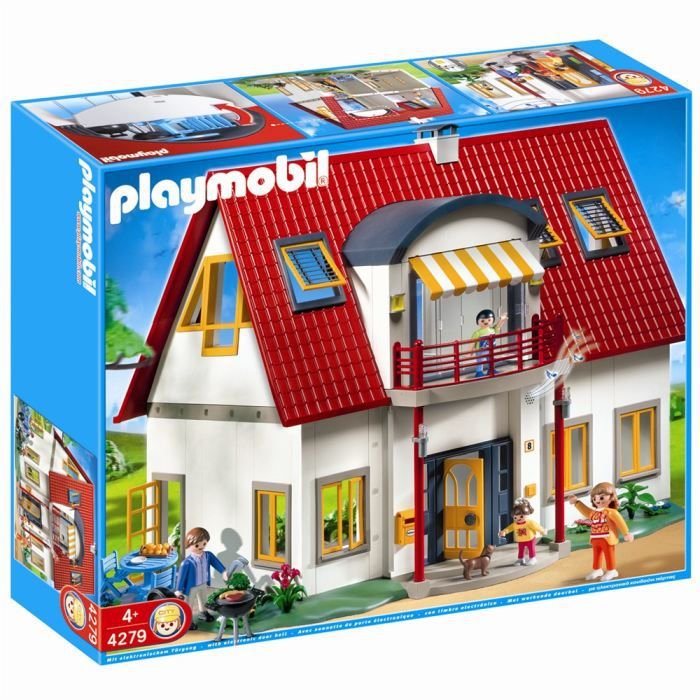 Playmobil villa moderne achat vente univers miniature for Affordable furniture ville platte la