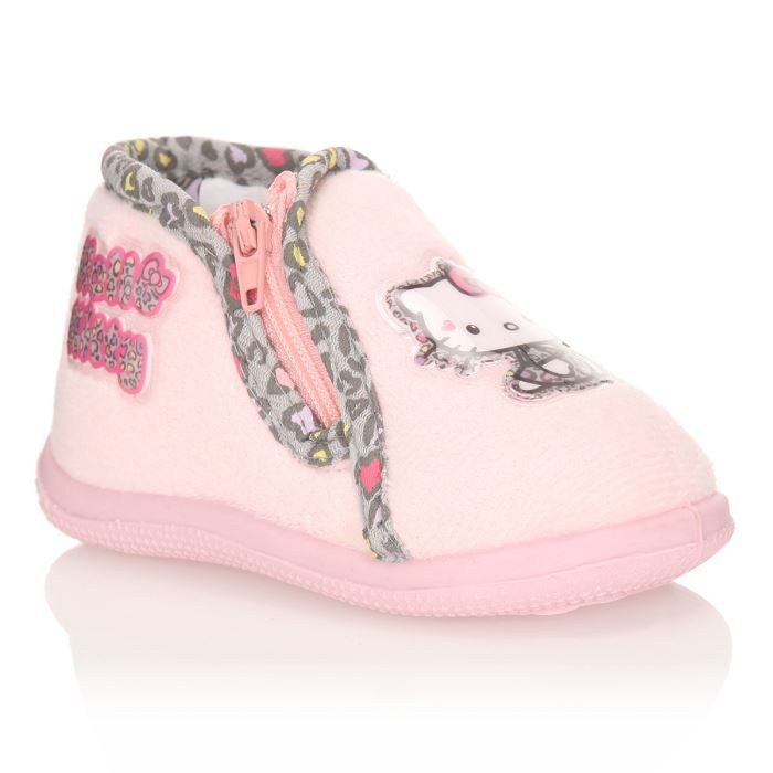 Hello kitty chausson oupette b b fille rose p le achat - Hello kitty bebe ...