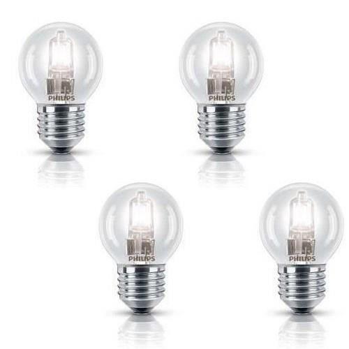 philips sph rique lot 4 ampoules ecohalo 42w e27 achat vente ampoule led verre cdiscount. Black Bedroom Furniture Sets. Home Design Ideas