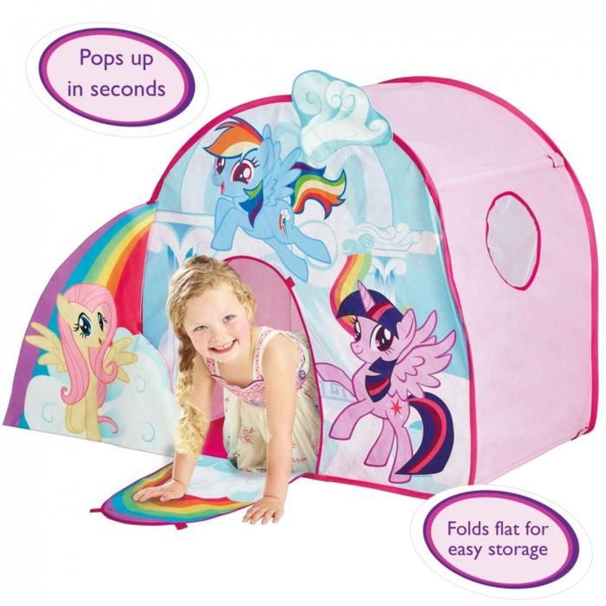 tente cabane fille jeu de r le univers mon petit poney achat vente tente tunnel d 39 activit. Black Bedroom Furniture Sets. Home Design Ideas