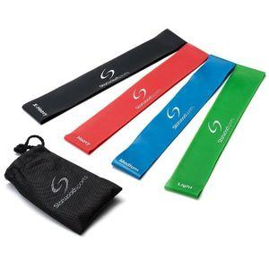 ELASTIBAND Lot de 4 bandes élastiques d'exercice - yoga - Pil