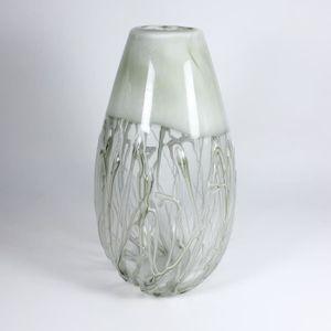 """VASE - SOLIFLORE Vase, verre, """"WHITE SWAN"""", claire/blanc, 33 cm"""